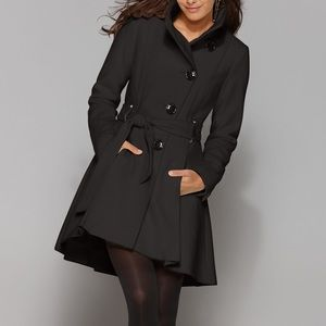Steve Madden Coat, Belted High-Low Skirted Trench